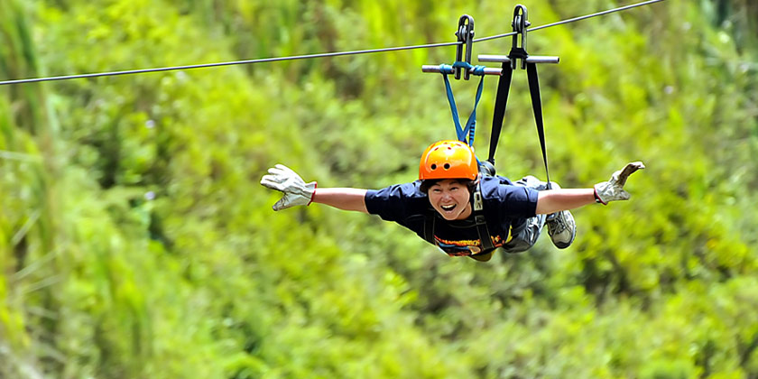 enjoy the cloudforest of ecuador while you do our zip lining tours near baos ecuador - Canopy